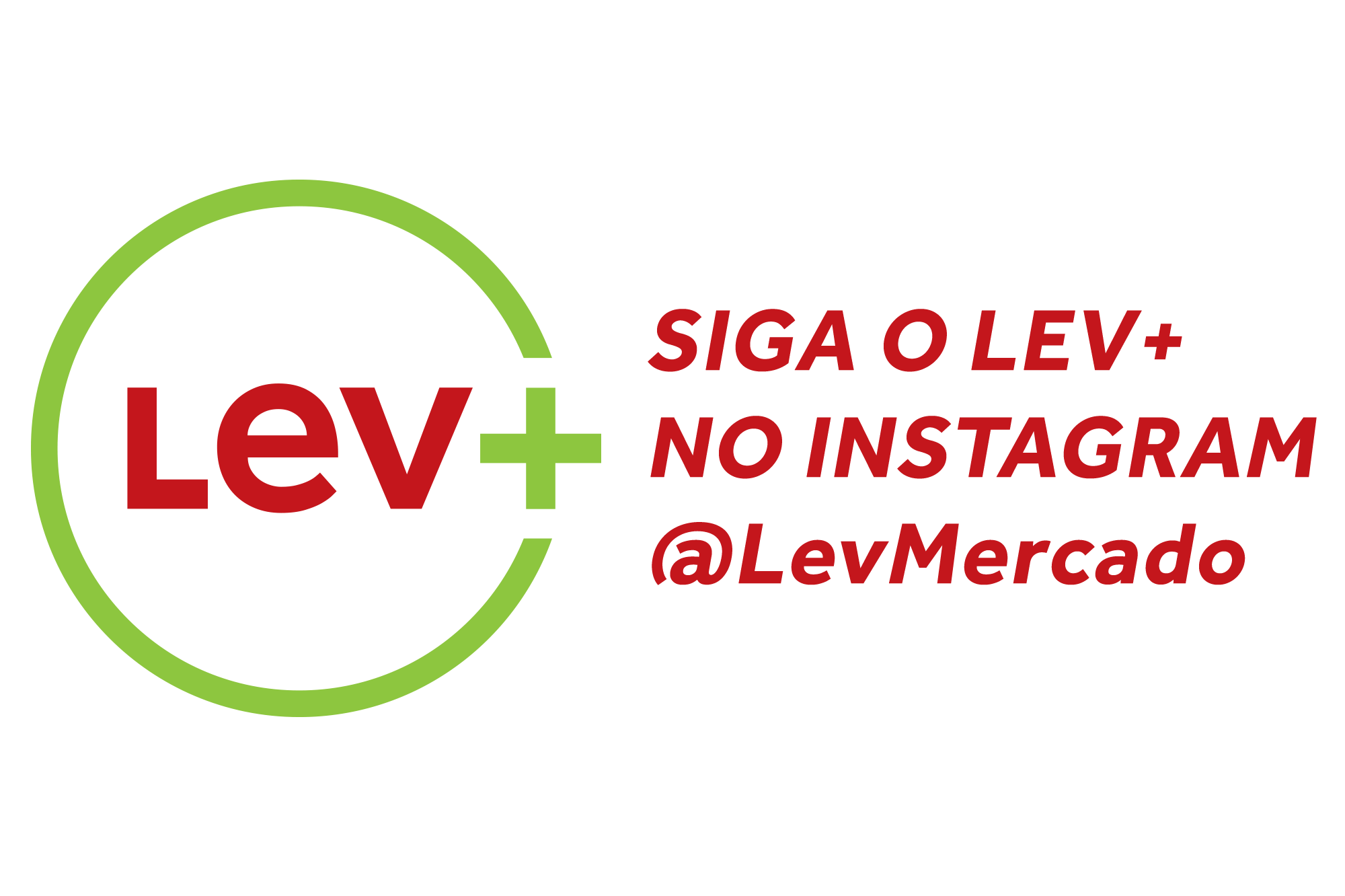 Siga o Lev+ Mercado no Instagram